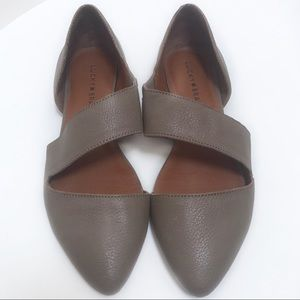 Lucky Brand D'Orsay Madysonn Taupe Flats Size 7.5